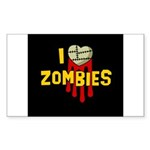 I heart Zombies Rectangle Sticker 10 pk)