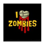 I heart Zombies Tile Coaster