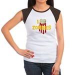 I heart Zombies Women's Cap Sleeve T-Shirt