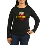 I heart Zombies Women's Long Sleeve Dark T-Shirt
