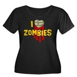 I heart Zombies Women's Plus Size Scoop Neck Dark