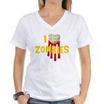 I heart Zombies Women's V-Neck T-Shirt