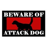 Beware of Attack Dog Llewellin Setter Decal