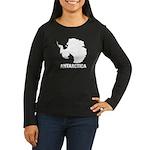 Antarctica Women's Long Sleeve Dark T-Shirt