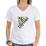 DRAMA QUEEN Women's V-Neck T-Shirt