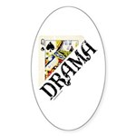 DRAMA QUEEN Oval Sticker (10 pk)