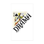 DRAMA QUEEN Rectangle Sticker 10 pk)