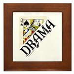 DRAMA QUEEN Framed Tile