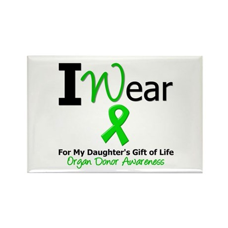 I Wear Green (Daughter) Rectangle Magnet