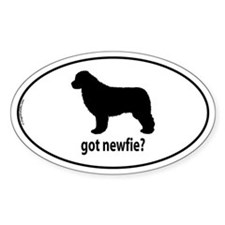 Got Newfie? Oval Bumper Stickers