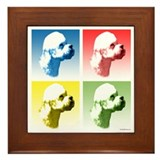 Dandie Dinmont Pop Art Framed Tile