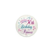 30th Birthday Princess Mini Button
