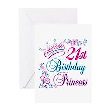 21st Birthday Princess Greeting Card