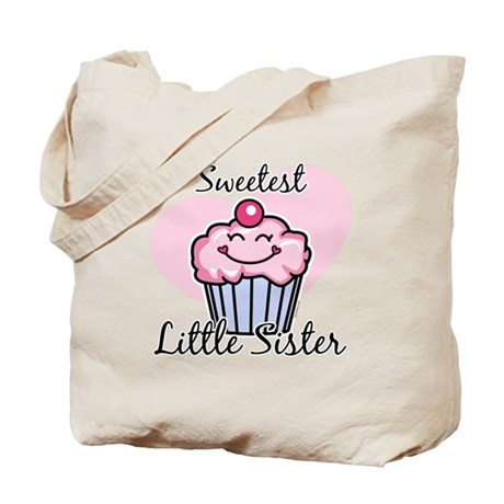 Sweetest Little Sister Tote Bag