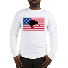 U.S. Kiwi Flag Long Sleeve T-Shirt