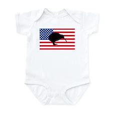 U.S. Kiwi Flag Infant Bodysuit