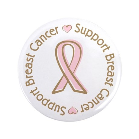 "Support Breast Cancer 3.5"" Button"