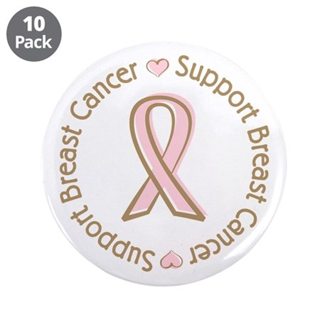 "Support Breast Cancer 3.5"" Button (10 pack)"