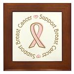 Support Breast Cancer Framed Tile