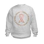 Support Breast Cancer Kids Sweatshirt