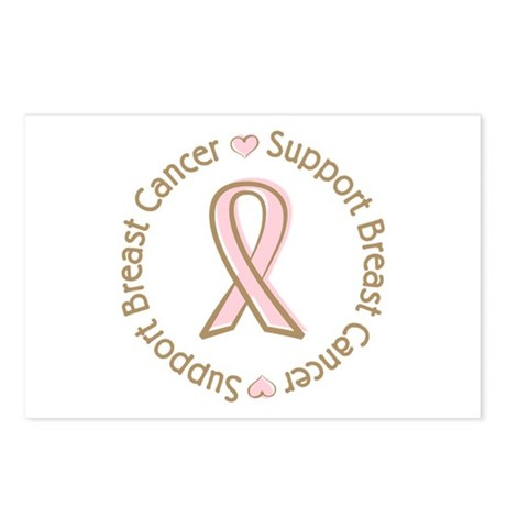 Support Breast Cancer Postcards (Package of 8)