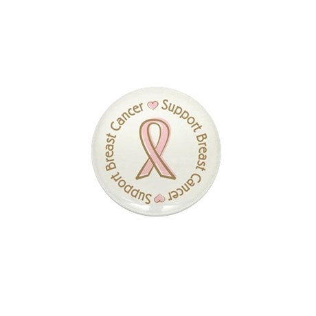 Support Breast Cancer Mini Button (100 pack)