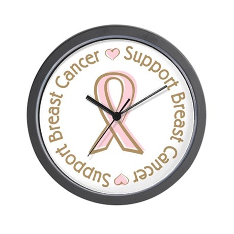 Support Breast Cancer Wall Clock