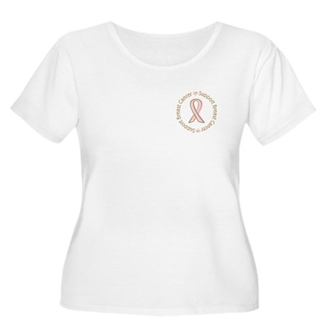 Support Breast Cancer Women's Plus Size Scoop Neck