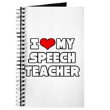 """I Love My Speech Teacher"" Journal"
