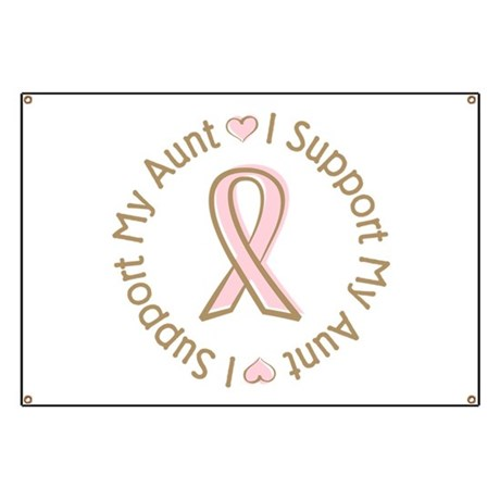 Breast Cancer Support Aunt Banner