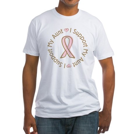 Breast Cancer Support Aunt Fitted T-Shirt