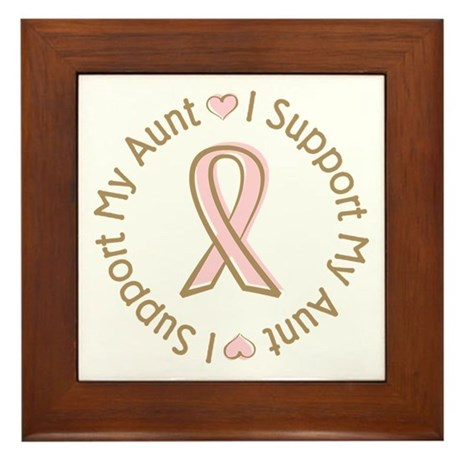 Breast Cancer Support Aunt Framed Tile