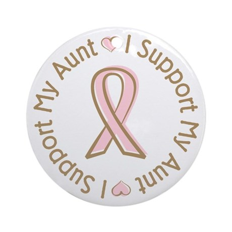 Breast Cancer Support Aunt Ornament (Round)