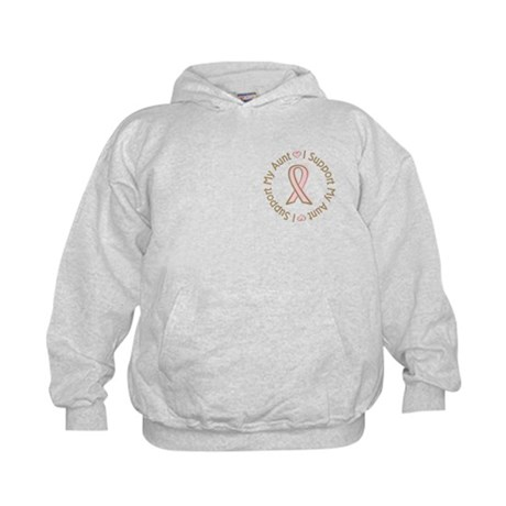 Breast Cancer Support Aunt Kids Hoodie