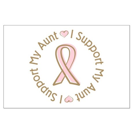 Breast Cancer Support Aunt Large Poster