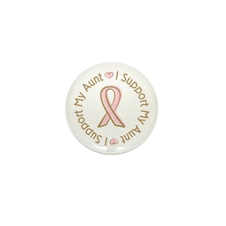 Breast Cancer Support Aunt Mini Button (100 pack)