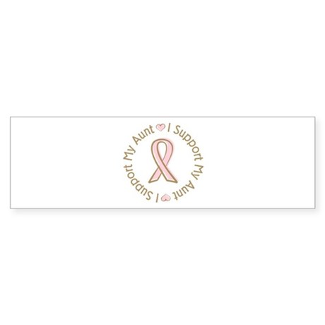 Breast Cancer Support Aunt Bumper Sticker (10 pk)