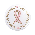 "Breast Cancer Support Best Friend 3.5"" Button"