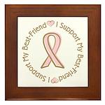 Breast Cancer Support Best Friend Framed Tile