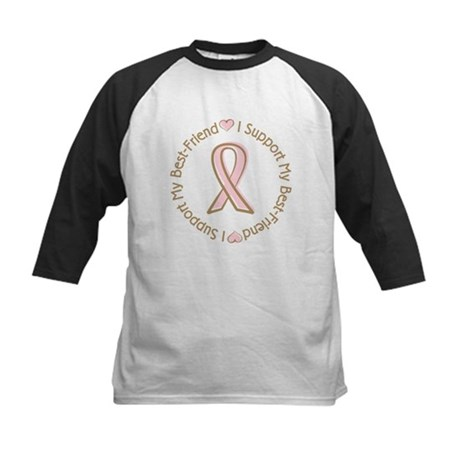 Breast Cancer Support Best Friend Kids Baseball Je