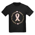 Breast Cancer Support Best Friend Kids Dark T-Shir
