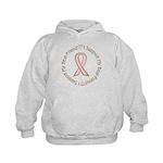 Breast Cancer Support Best Friend Kids Hoodie