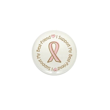 Breast Cancer Support Best Friend Mini Button (100
