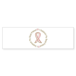 Breast Cancer Support Best Friend Sticker (Bumper