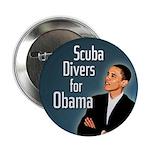 Scuba Divers for Obama campaign button