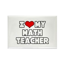 """I Love My Math Teacher"" Rectangle Magnet (100 pac"
