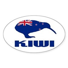 New Zealand Kiwi Oval Sticker (50 pk)