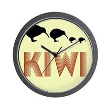 Retro Vintage Kiwi Wall Clock