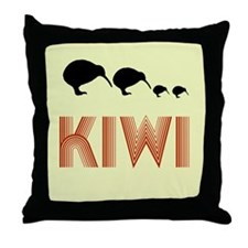 Retro Vintage Kiwi Throw Pillow