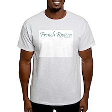 French Riviera (Teal) - Ash Grey T-Shirt